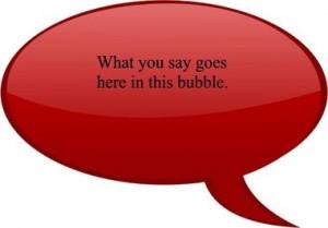 bubble sign